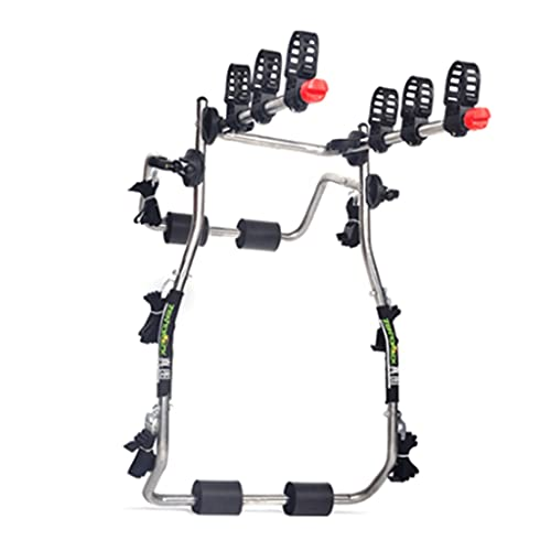 LZL Anti-Fall Deluxe Black 3-Bike Trunk Mount Bicycle Carrier Rack. (Compatible with Most Sedans/Hatchbacks/Minivans and SUVs.) (Color : High-Carbon Steel)