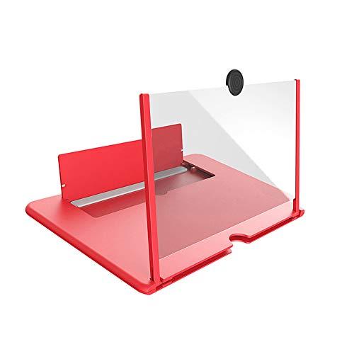 Lepeuxi – Amplificador de tela para celular, efeito 3D, tela grande com suporte de mesa, aumento de tela dobrável para jogos de filmes