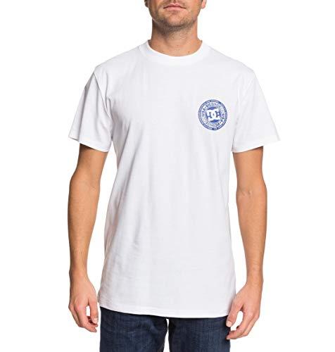 DC Shoes Circle Star - Camiseta para Hombre Camiseta, Hombre, Snow White/Nautical Blue, XL