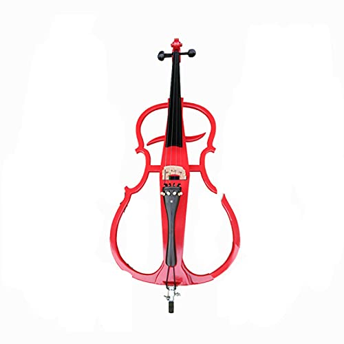 KEPOHK Instrumento de violonchelo eléctrico de madera oscura de tamaño completo 4/4...