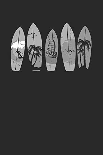 Vintage Surfboard Notebook - Surfer Journal Planner: Surfrider Bodyboard Organizer For Men Women Kids Blank