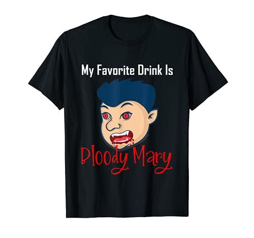 Mi bebida favorita es Bloody Mary Dress Up Halloween Party Camiseta