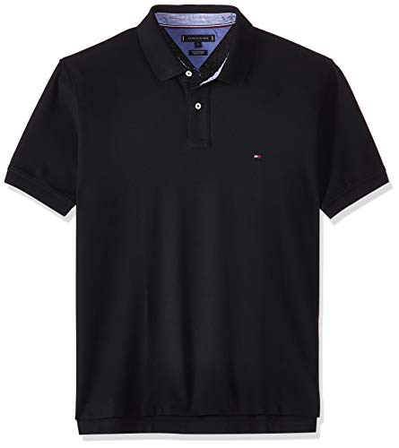 Tommy Hilfiger Core Hilfiger Regular Polo, Negro (Flag Black 060), Medium para Hombre