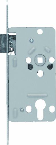 ABUS 21039 Tür-Einsteckschloss Profilzylinder TKZ20 R S, für DIN-rechts Türen, silber