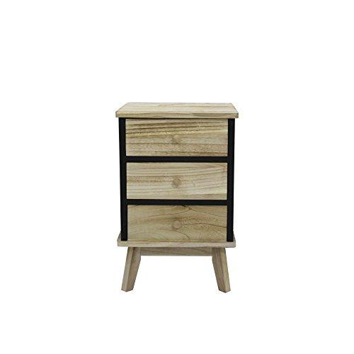 Rebecca Mobili ladecommode kast 3 laden industrieel slaapkamer woonkamer inrichting huis - 57x37x32 (H x B x D) - Art. RE6085