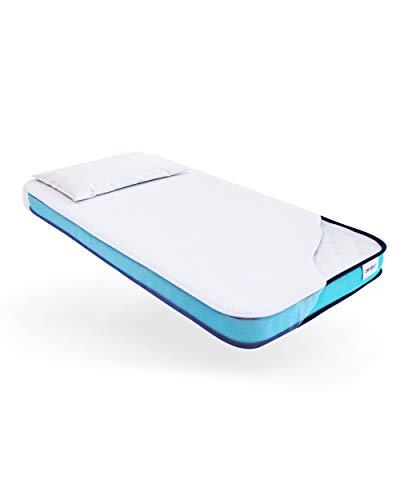 ZenPur Materasso Lettino 60x120 Memory Foam | Materasso Culla 60x120 Altezza 10 cm – Fodera Traspirante Ipoallergenica Superstretch 3D