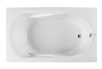 "PROFLO PFS6042AWH PROFLO PFS6042A 60"" X 42"" Drop-In or Alcove Soaking Bathtub - EasyCare Acrylic"