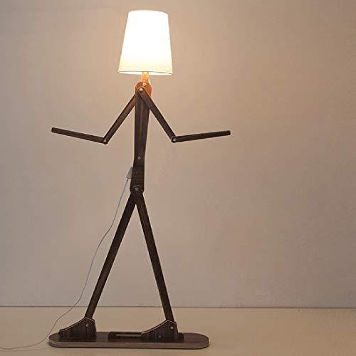 Koper Persoonlijkheid Creative Verstelbare Houten Entertainer Woonkamer Slaapkamer Kinderen Room Floor Lamp Simple Creative Decoration