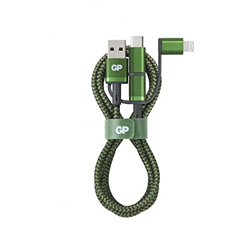GP CY1A Charge & Sync Cable 1m 3in1 USB-A to Micro/USB-C/Light. Marca...