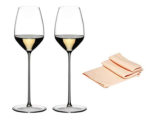 Dekomiro Riedel witte wijn glas set Max Riesling 1423/15 in set van 2 glasreinigingsdoekjes
