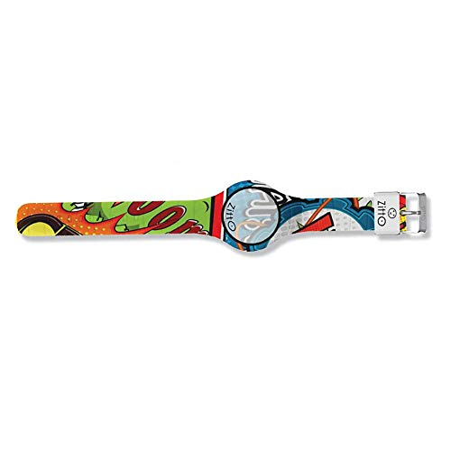 Orologio digitale piccolo ZITTO COMICS in silicone multicolore X-PLOSION-MA-MINI