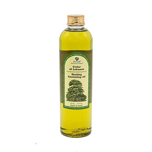 Curación unción aceite de cedro de Líbano 250ml–8,5fl oz de Holyland Jerusalén (250ml)