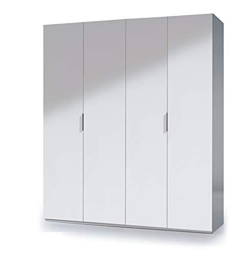 Esidra Armadio Guardaroba 4 Ante, Laminato Bianco, 180 x 200 x 52 cm
