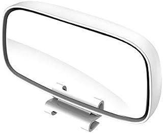 Universal Auto Toter Winkel Spiegel,MoreChoice Einstellbare Weitwinkel Rückspiegel Wasserdichter konvexer Objektivspiegel Verstellbarer Auto Rückspiegel für Fahrzeuge PKW LKW SUV,Weiß