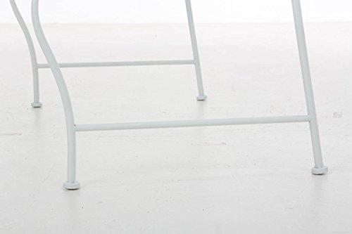 CLP Metall Gartenbank TUAN, 2-er Sitz-Bank Garten, Eisen lackiert, Design nostalgisch antik, 105 x 50 cm Weiß - 8