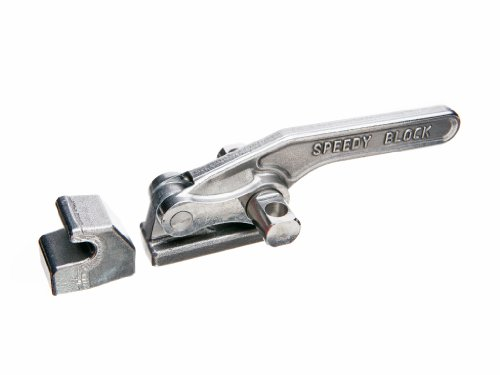 JW Winco Series GN 852-NI Stainless Steel Latch-Type Toggle Clamp with Mounting Holes and Latch Bracket Without Pulling Latch, Type T, Metric Size, Clamp Size 2800, 28000 Newton Holding Capacity