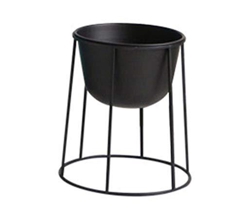 Sarazong Stand Nordique de Style de Fer Art, Stand de Fleurs de décoration Stand de Plante créative Salon intérieur Pot de Fleur Noir et Blanc,Black,42cm
