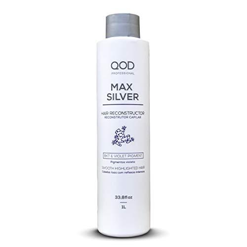 Organiq QOD MAX Silver 100 % sans formaldéhyde, kératine brésilienne, lissage, traitement des cheveux blowout sans formaldéhyde, 1000 ml