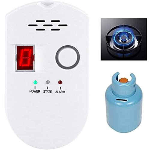 Natural Gas Detector, Gas Leak Detector, Home Gas Alarm, Natural Gas Propane Leak Alarm, High Sensitivity LPG LNG Coal Natural Gas Leak Detection, Gas Leak Alarm Monitor Sensor (1)