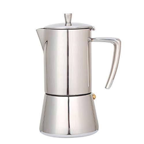 FDT112. Kaffeekanne 300 ml Moka Topf 304# Edelstahl Kaffeekanne Küche Kaffeefilter Moka Pot (Color : Pink, Size : 6-Cup)