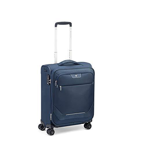 Roncato Joy Maleta Cabina avión Expansible Azul, Medida: 55 x 40 x 20/23 cm, Capacidad: 42/48 l, Pesas: 2.1 kg, Maleta Cabina avión ryanair