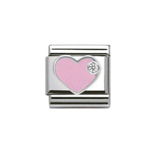 Nomination Composable Damen-Bead Classic Symbole Edelstahl (Herz rosa) 330305/02