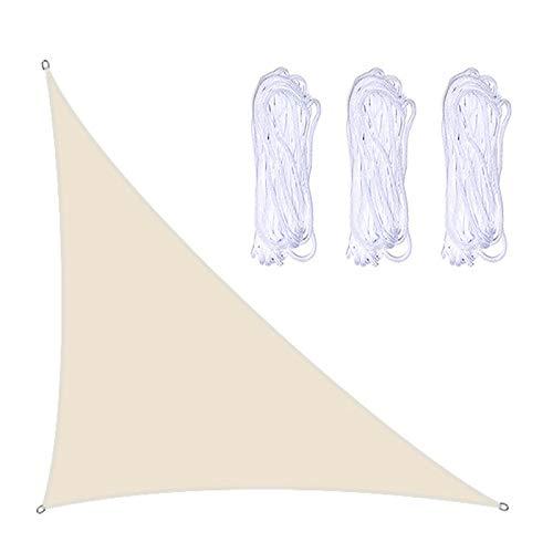 RTWAY Toldo de vela triangular, 4 x 4 x 5,7 m, con cuerda, bloqueador de rayos UV, toldo para patio, toldo de pantalla al aire libre