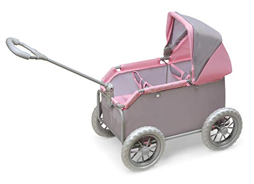 Badger Basket Leisure Twin Wheeled Doll Wagon Stroller (fits American Girl Dolls)