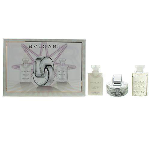 Bvlgari Omnia Crystalline Duftset (Eau de Toilette,40ml+Bodylotion,40ml+Duschgel,40ml), 1er Pack(1 x 200 g)