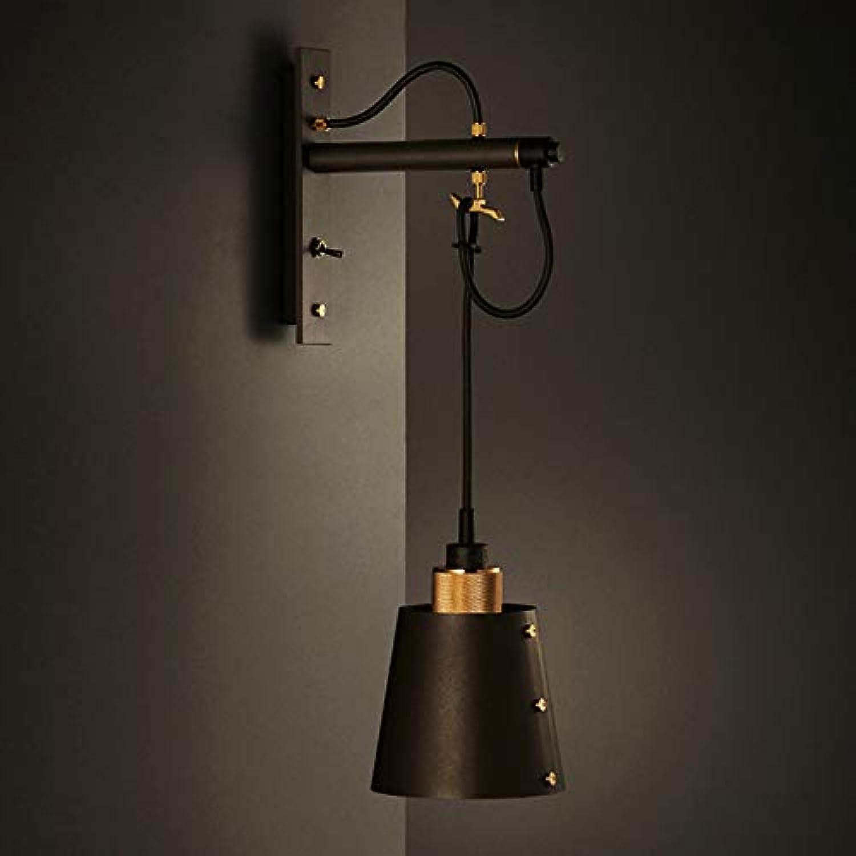 Retro Wandleuchte Vintage Wandleuchte Mit Schalter Schwarzes Eisen E27 Wandleuchte Hhenverstellbar Leuchte Licht (Design   2)