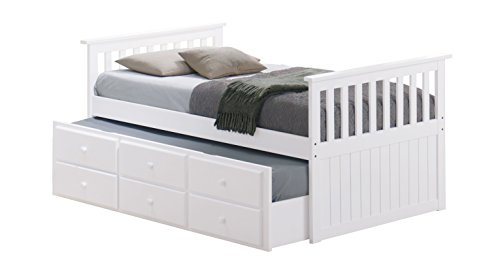 Stork Craft Marco Island Captain's Bed, Twin, White