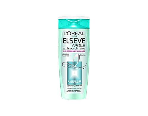 L'oréal ELSEVE Argile Extraordinaire shampooing antipelliculaire lot de 2