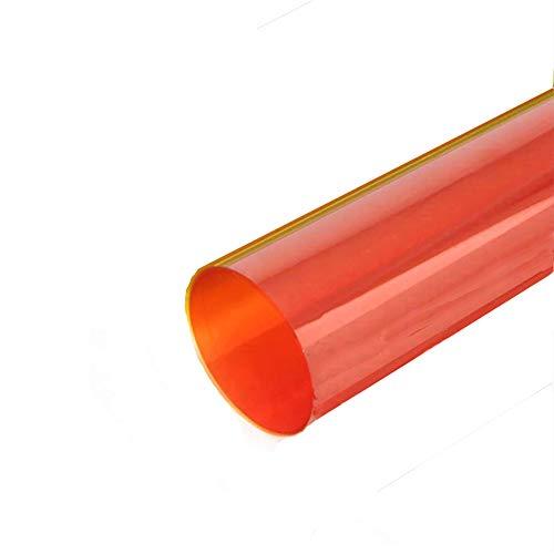 Selens 40x50cm Gel de Color Filtro Luz Geles de Correccion Laminas Plastica de Pelicula de Color Transparente para Foco de 800W Cabezal Rojo Fotografia Estudio Fotografico Naranja-Rojo