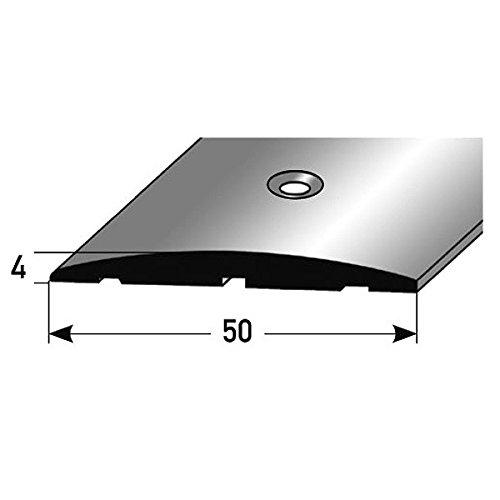 **TOPSELLER** Übergangsprofil / Übergangsschiene / 50 mm, Typ: 145 (Aluminium eloxiert, gebohrt), Farbe: Silber