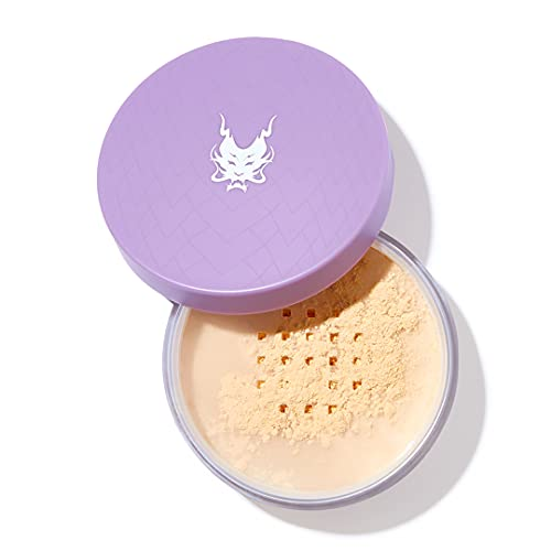 Dragun Beauty TRANSlucent Setting Powder, Yellow – Silky Smooth Loose Powder for Blurring, Brightening and Baking, Controls Shine and Hides Imperfections