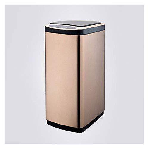 xiaodou Papeleras Bote de Basura de Cocina de Gran Capacidad con Tapa de Acero Inoxidable Smart Passh Can Hogar Libre de Basura automática Gratuito (rectanglular, 20L / 30L) Bote de Basura