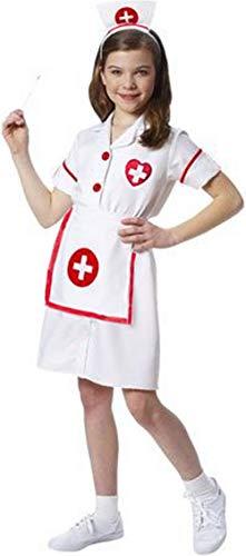 Forever Young Disfraz de enfermera para niñas de hospital, médico, disfraz de Halloween