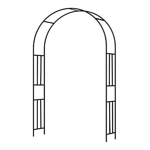 YCMY Arcos De Jardín, Decoraciones De Jardín Arcos De Jardín De Metal Al Aire Libre, Arco De Rosas Enrejado Arqueado, Soporte para Plantas De Escalada, Black, 3 X 2.4m.