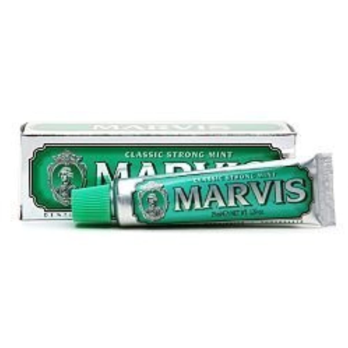 ジャンル経験者キャベツMarvis Travel Sized Toothpaste, Classic Strong Mint 1.29 oz (25 ml) (Qunatity of 4) by Marvis [並行輸入品]