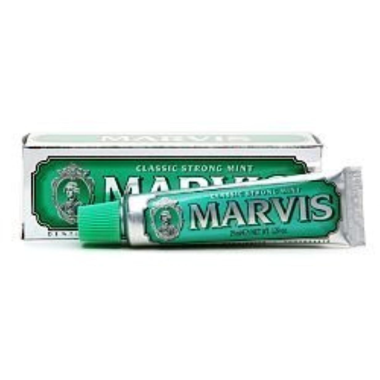 寝具応答批判するMarvis Travel Sized Toothpaste, Classic Strong Mint 1.29 oz (25 ml) (Qunatity of 4) by Marvis [並行輸入品]