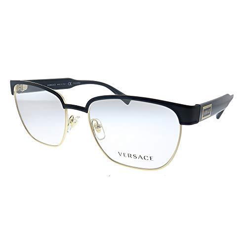 Versace Occhiali da Vista 90S VINTAGE LOGO VE 1264 Matte Black Gold 54/18/140 uomo