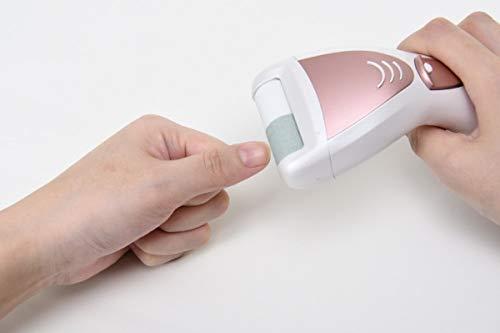 ロゼンスター電動爪削り&角質ケアローラーホワイト&ピンクゴールドND-5459