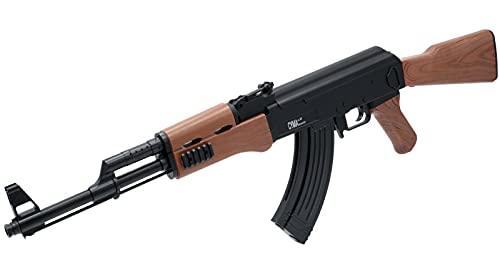 B.W. Softair Gun Airsoft Gewehr + Munition   AK 47 (P47) - Schwarz Profi Voll ABS   79cm. Inkl. Magazin & unter 0,5 Joule (ab 14 Jahre)