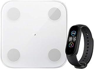 Xiaomi Unisex - volwassenen Smart Band 5 + Mi Body Composition Scale 2 fitness en activiteitstracker, zwart, één maat
