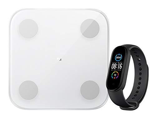 Xiaomi Unisex– Erwachsene Smart Band 5 + Mi Body Composition Scale 2 Fitness- & Aktivitätstracker, schwarz, OneSize