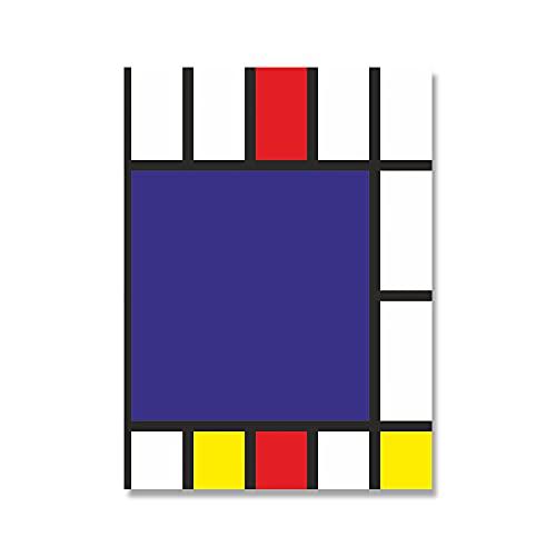 Bauhaus impresión de arte geométrico abstracto cartel minimalista moderno cuadro de lienzo pared del hogar pintura de lienzo sin marco A3 15x20 cm