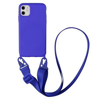 Jacyren Funda para iPhone XS, funda para teléfono móvil, cadena de teléfono móvil, suave silicona (extraíble), carcasa de silicona con cordón amortiguador para iPhone XS/X(5,8 pulgadas)