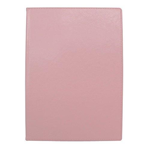 手帳カバー A5 ピンク ノートカバー ブックカバー 無地 横開き 合皮 手帳式 PUレザー