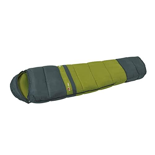Wilsa Verdon Flex - Saco de dormir (plumón, para acampada, senderismo, accesorios, 230 cm), color gris y verde