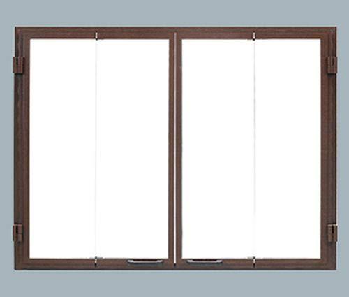 Sale!! Monessen Glass Bi-Fold Door in Black for 50 Ashland Wood Fireplace